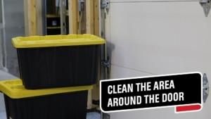 clean the area around the door